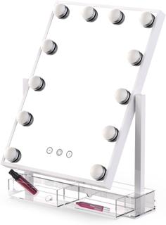 Revolt Sminkspegel Hollywood 12 LED med förvaring