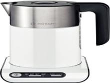 Bosch Styline TWK8611P - Kedel - 1.5 liter - 2400 W - hvid/rustfrit stål