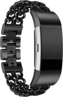Fitbit Charge 2 stainless steel watch strap- Black