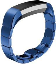 Solid Link Rustfritt Stål Sommerfugl Klokkereim For Fitbit Alta - Blå