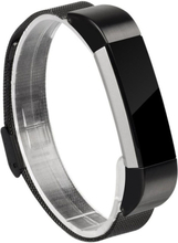 Milanese stainless steel watch strap for Fitbit Alta - Black