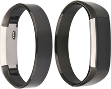 Simple style stainless steel bracelet strap for Fitbit Alta - Black