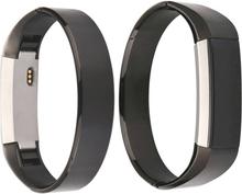Simple Style Rustfritt Stål Armbånd Stropp For Fitbit Alta - Svart