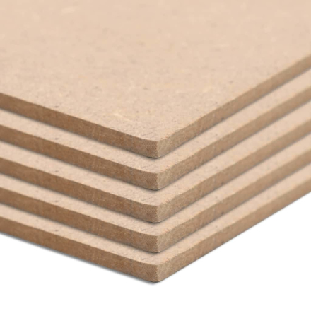 vidaXL Bordplater MDF 5 stk rektangulær 1200x600x2,5 mm