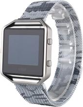 Fitbit Blaze Kamuflasjeuflage Mønster Klokkereim - Sølv