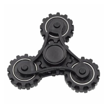 EDC Tri-Spinnerspinner Figdet spinner- Black/ Silver