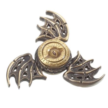 EDC dragon pattern Tri-Spinnerspinner Fidget Spinner- Bronze