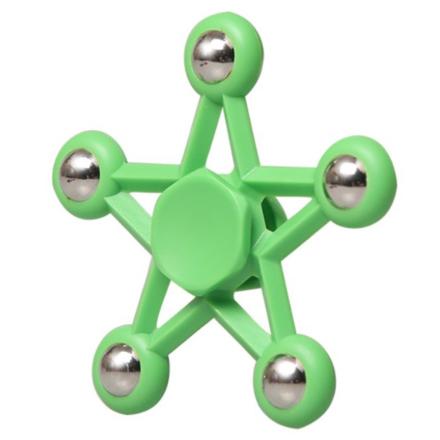 Pentagram star steel ball Fidget Spinner- Green