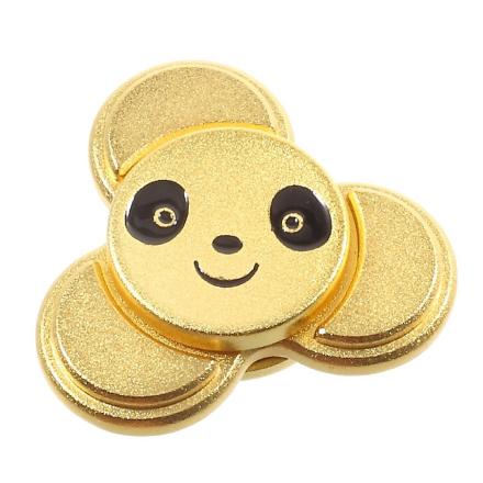 EDC cute panda shape Tri-Spinnerspinner Fidget Spinner- Gold