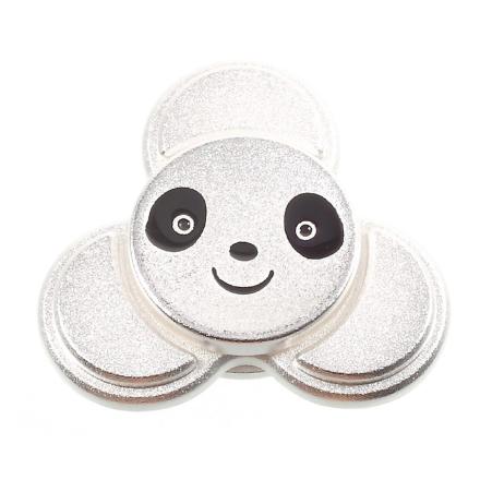 EDC cute panda shape Tri-Spinnerspinner Fidget Spinner- Silver