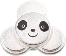 Edc Cute Panda Form Tri-Spinnerspinner Fidget Spinner- Sølv