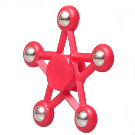 Pentagram star steel ball Fidget Spinner- Red