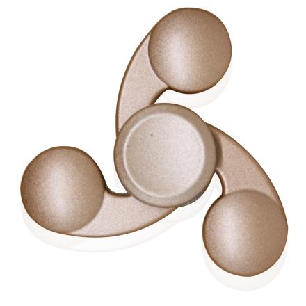 Kirsite Tri-Spinnerspinner Fidget Spinner- Gold