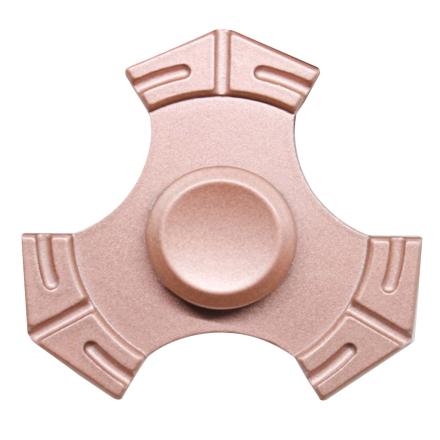 EDC kirsite Tri-Spinnerspinner Fidget Spinner- Rose Gold