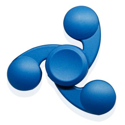 Kirsite Tri-Spinnerspinner Fidget Spinner- Blue