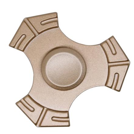 EDC kirsite Tri-Spinnerspinner Fidget Spinner- Gold
