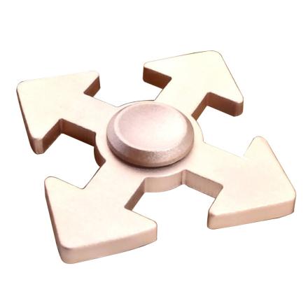 Arrow pattern aluminum alloy Fidget Spinner- Rose Gold