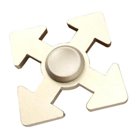 Arrow pattern aluminum alloy Fidget Spinner- Gold