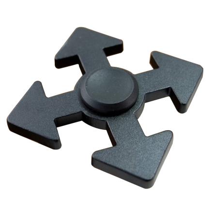 Arrow pattern aluminum alloy Fidget Spinner- Black