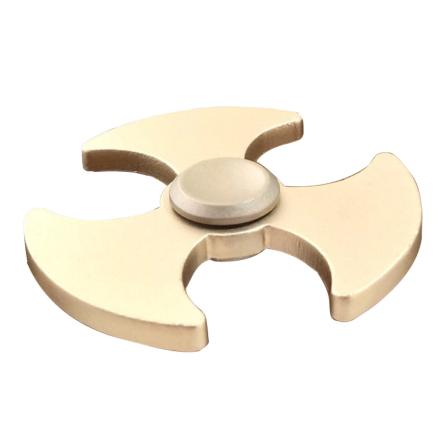 EDC axe pattern aluminum alloy Tri-Spinnerspinner Fidget Spinner- Gold