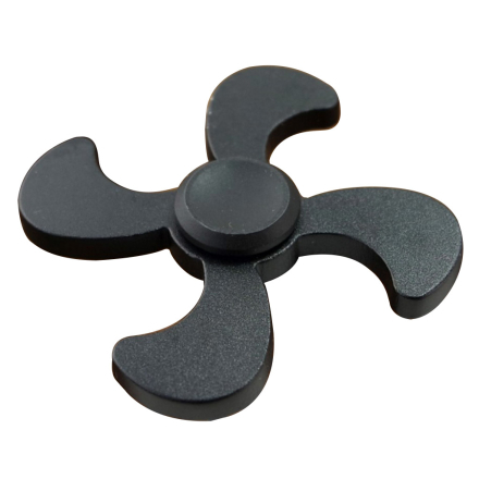 EDC Quadrangle aluminum Fidget Spinner- Black