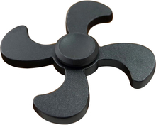 Edc Quadrangle Aluminum Fidget Spinner- Svart