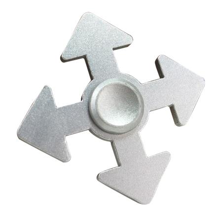 Arrow pattern aluminum alloy Fidget Spinner- Silver