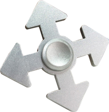 Arrow pattern aluminum alloy Fidget Spinner- Silver