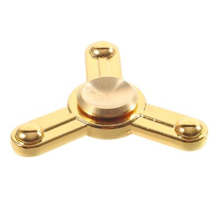EDC metal Tri-Spinner spinning Fidget Spinner- Gold