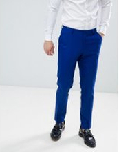 ASOS DESIGN skinny suit trousers in royal blue - Royal blue