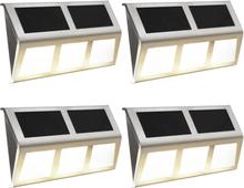 vidaXL Solcellslampor 4 st LED varmvit