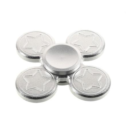 Five-pointed star shape quadrangle Fidget Spinner- Silver