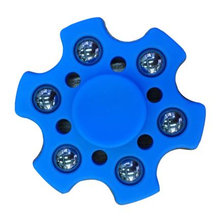 Small metal balls hexagon Fidget Spinner- Dark Blue