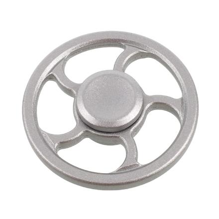 EDC wheel pattern Kirsite Fidget Spinner- Silver