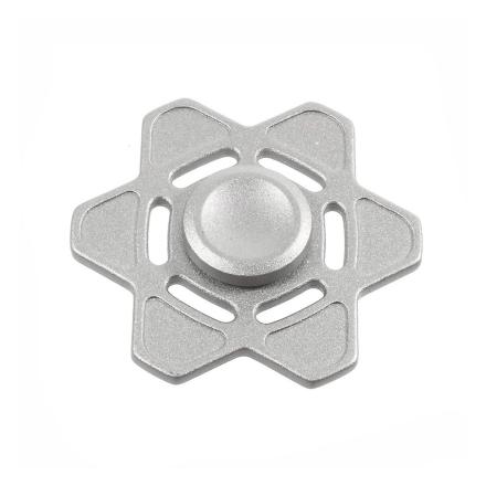Six-pointed star pattern Fidget Spinner- Silver