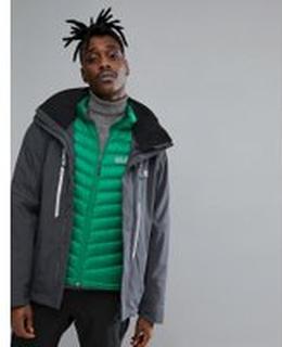 Jack Wolfskin Exolight 3 in 1 Ski Jacket in Black - 6230 ebony