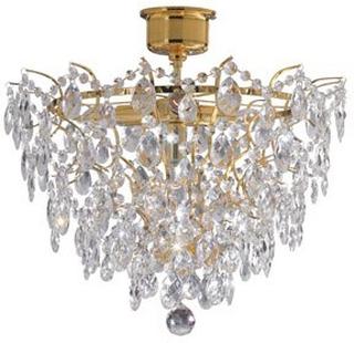 Markslöjd Rosendal Plafond 4 Ljus Guld