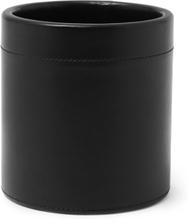 Leather Pen Pot - Black