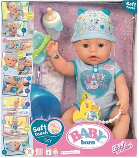 Baby Born interaktiv soft touch dukke gutt 43 cm med tilbehør