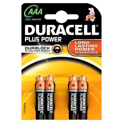 Duracell AAA Duralock Plus Power 4 stk