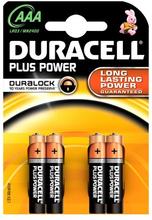 Duracell AAA Duralock Plus Power 4 kpl