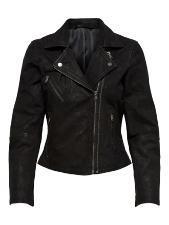 ONLY Leather Jacket Women Black
