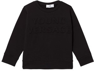 Young Versace Black Embossed Versace Sweatshirt 8 years