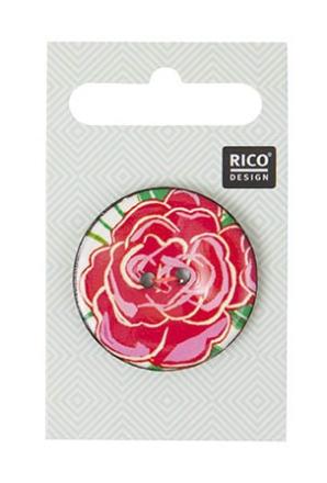 Knapper med Cerise rose, 3,4 cm