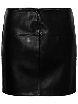 NOISY MAY High Waist Coated Skirt Women Black