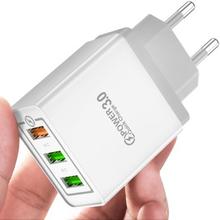 Hurtiglader USB-adapter med tre porter
