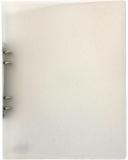 Ringpärm A4 i plast transparent vit