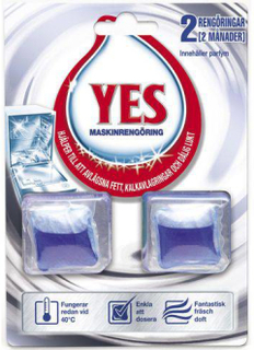 Diskmaskinsrengöring YES Power Clean 2p