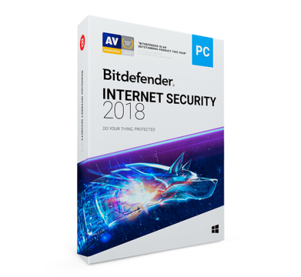 Bitdefender Internet Security 2019 - 1 enhed / 1 år