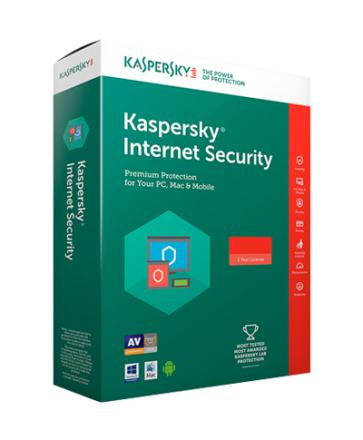 Kaspersky Internet Security 2019 - 1 enhed / 1 år
